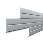 Металлосайдинг L-Брус «Сигнально-серый» (RAL-7004)