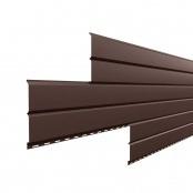 Металлосайдинг L-Брус «Шоколад» (RAL-8017)