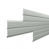 Металлосайдинг L-Брус «Светлый алюминий» (RAL-9006)